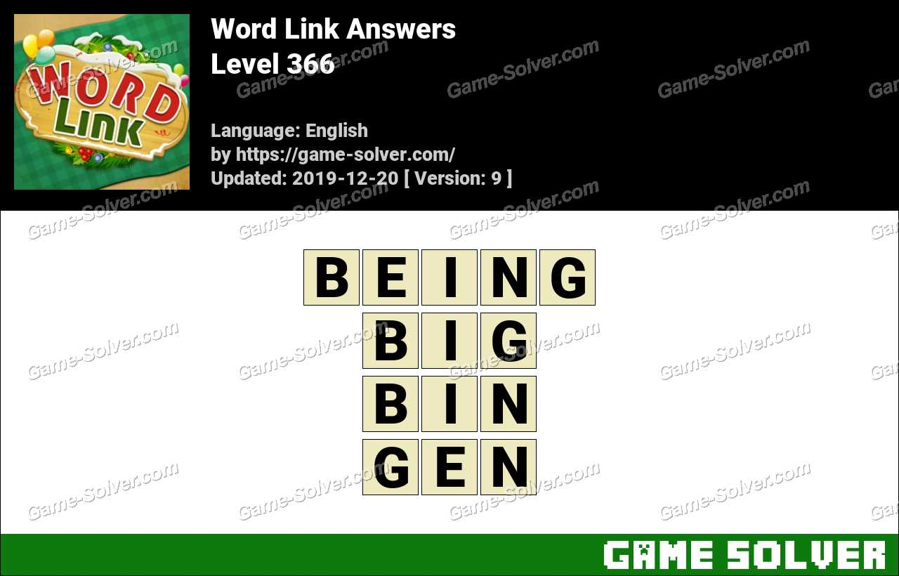 Word Link Level 366 Answers