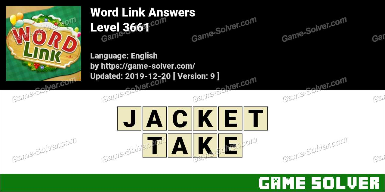 Word Link Level 3661 Answers