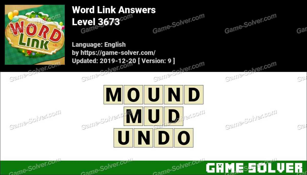 Word Link Level 3673 Answers