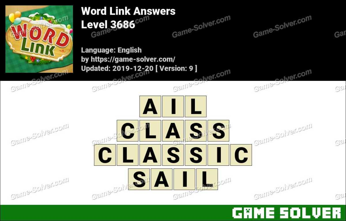 Word Link Level 3686 Answers