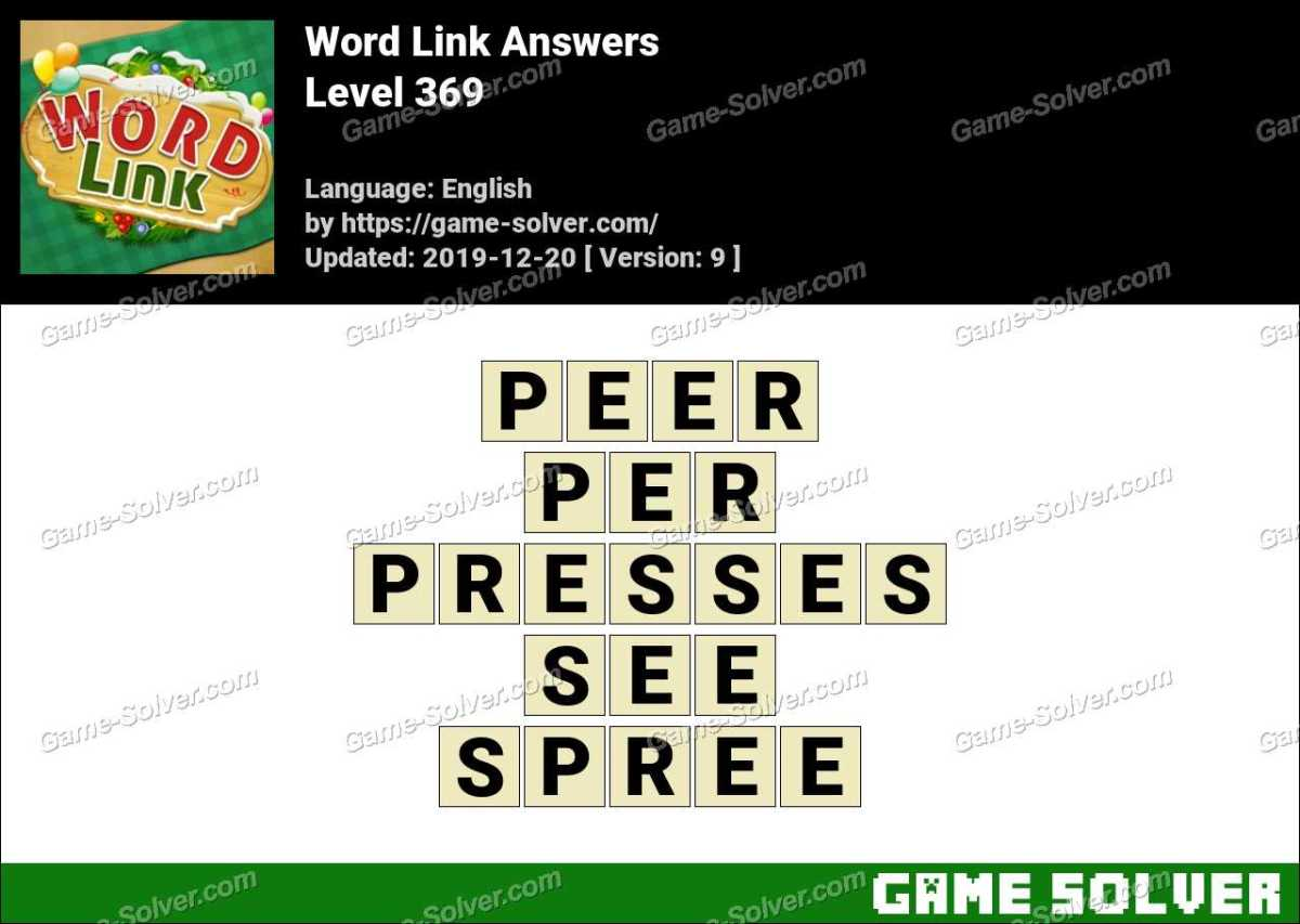 Word Link Level 369 Answers