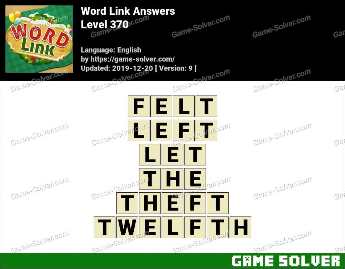 Word Link Level 370 Answers