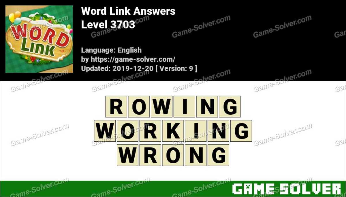 Word Link Level 3703 Answers