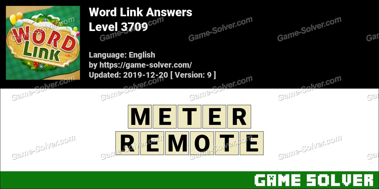 Word Link Level 3709 Answers