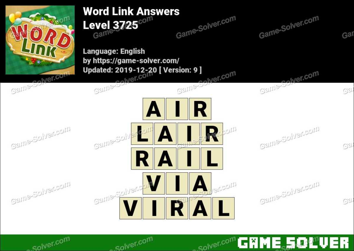 Word Link Level 3725 Answers