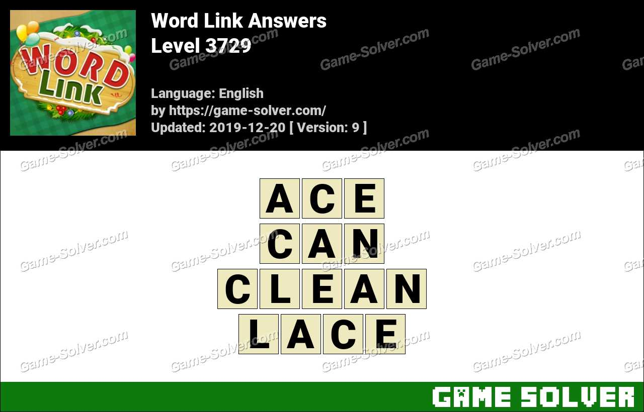 Word Link Level 3729 Answers