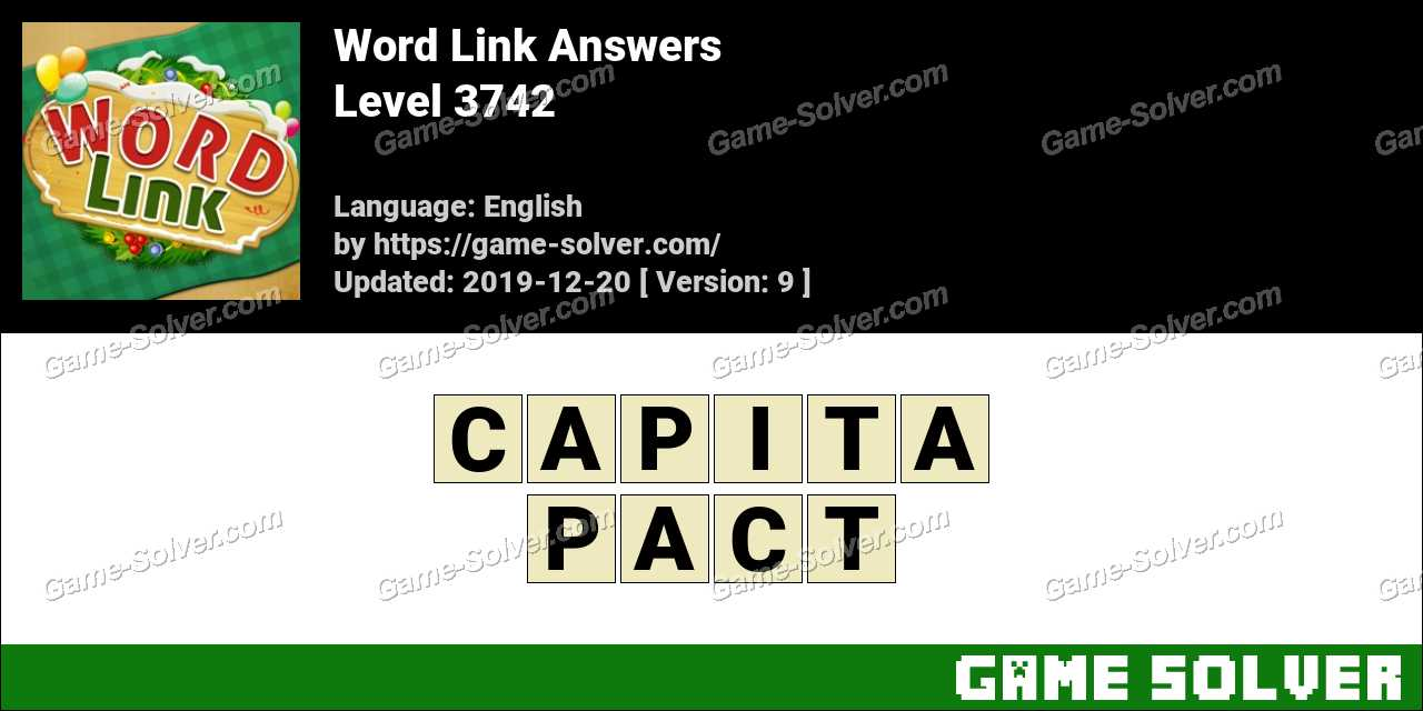 Word Link Level 3742 Answers