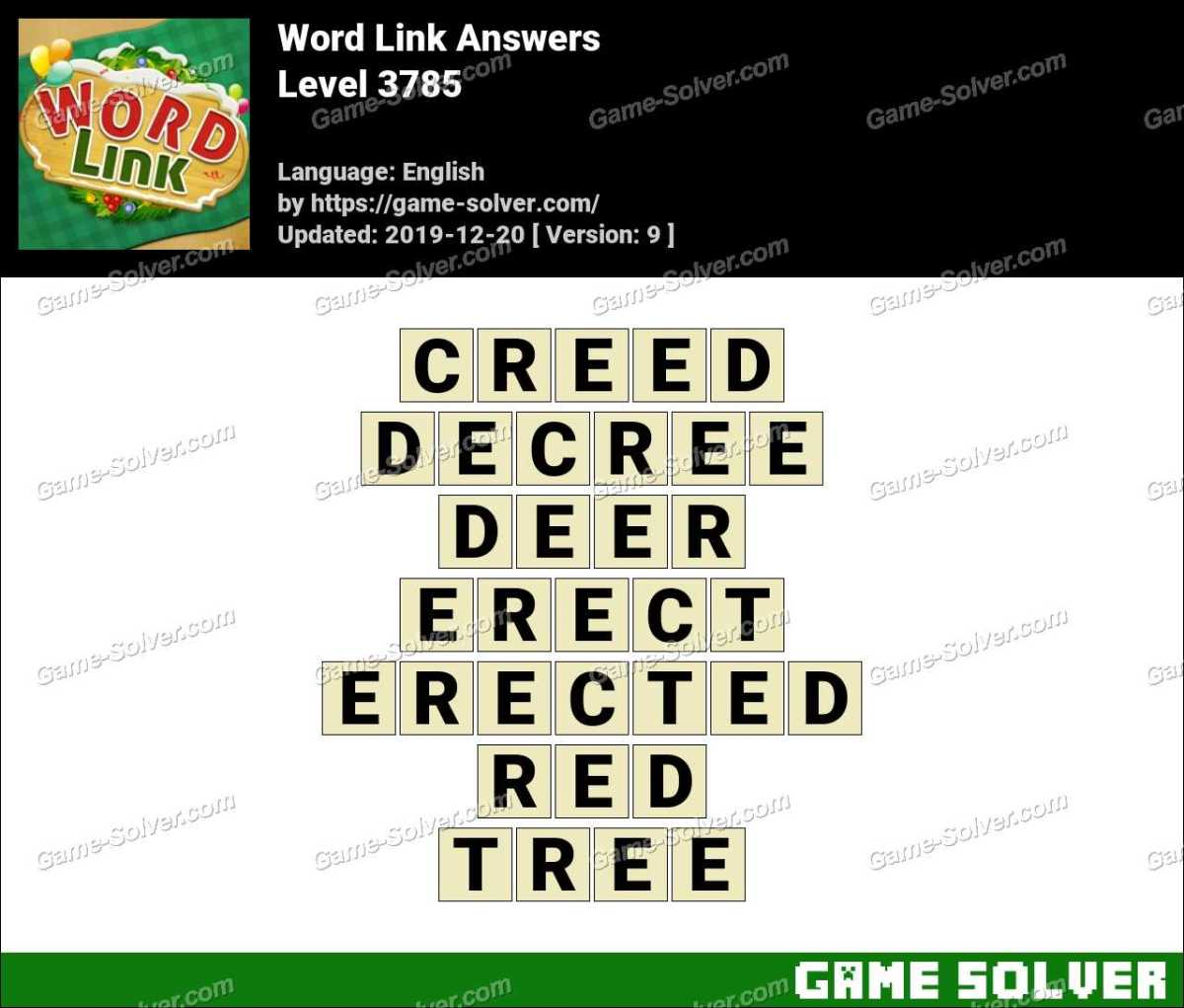 Word Link Level 3785 Answers