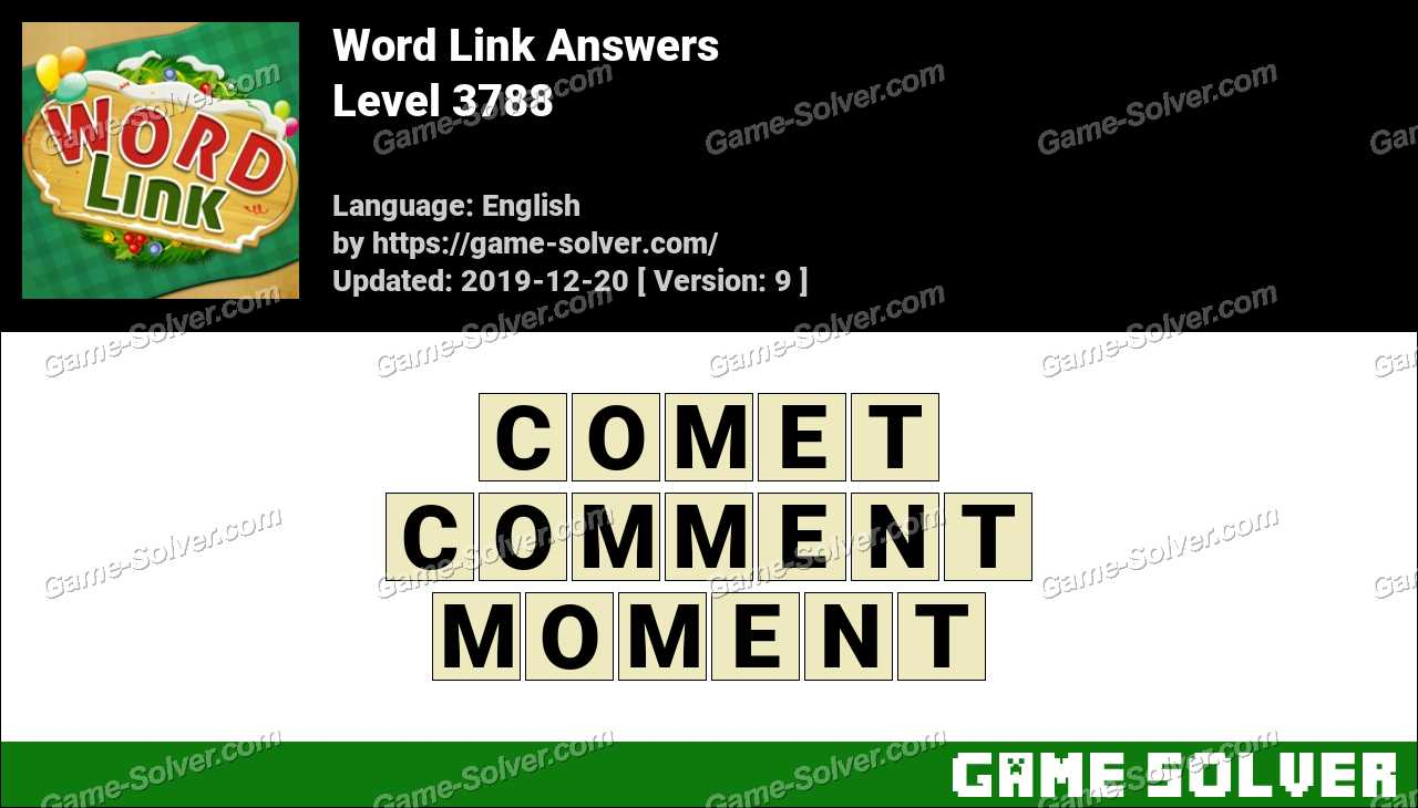 Word Link Level 3788 Answers
