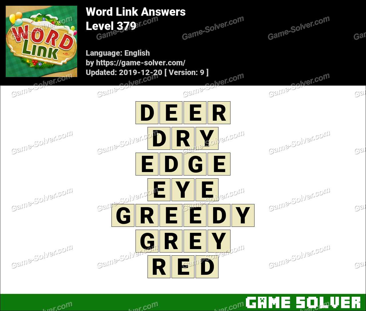 Word Link Level 379 Answers
