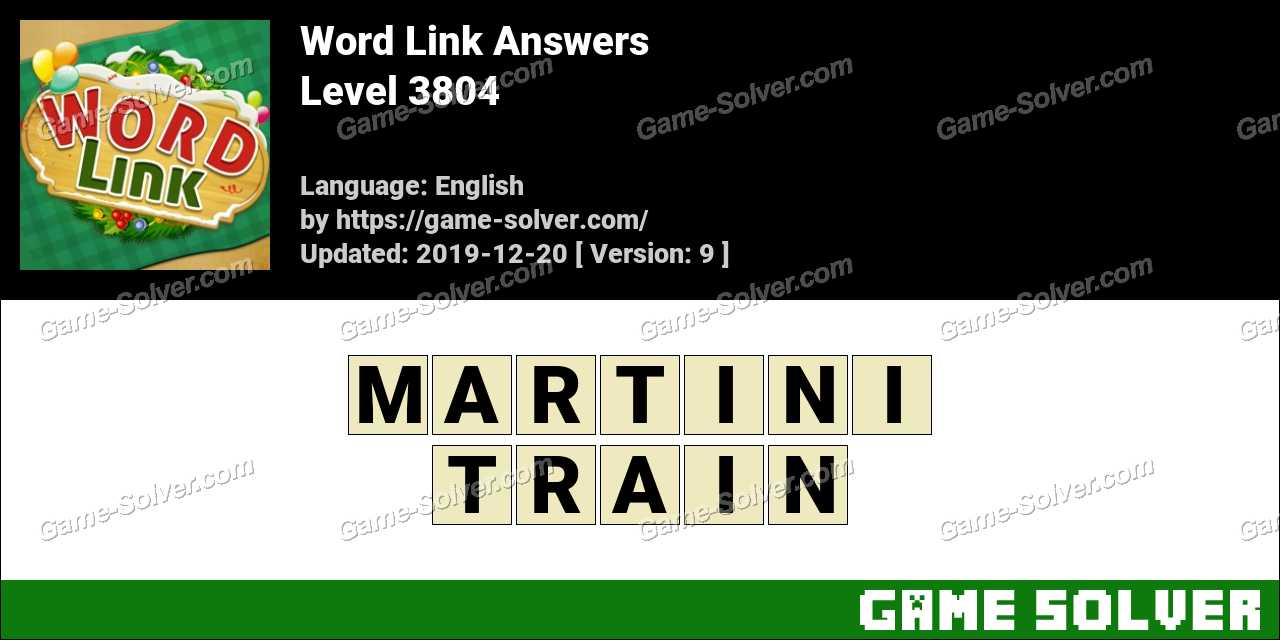 Word Link Level 3804 Answers
