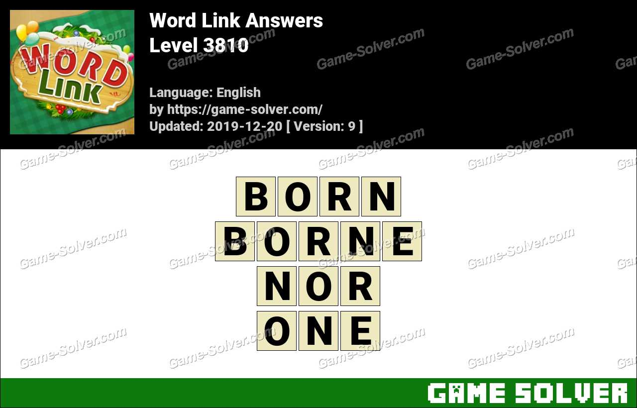 Word Link Level 3810 Answers