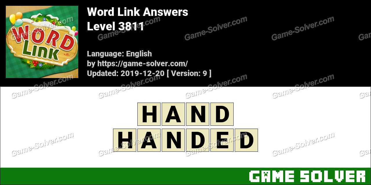 Word Link Level 3811 Answers
