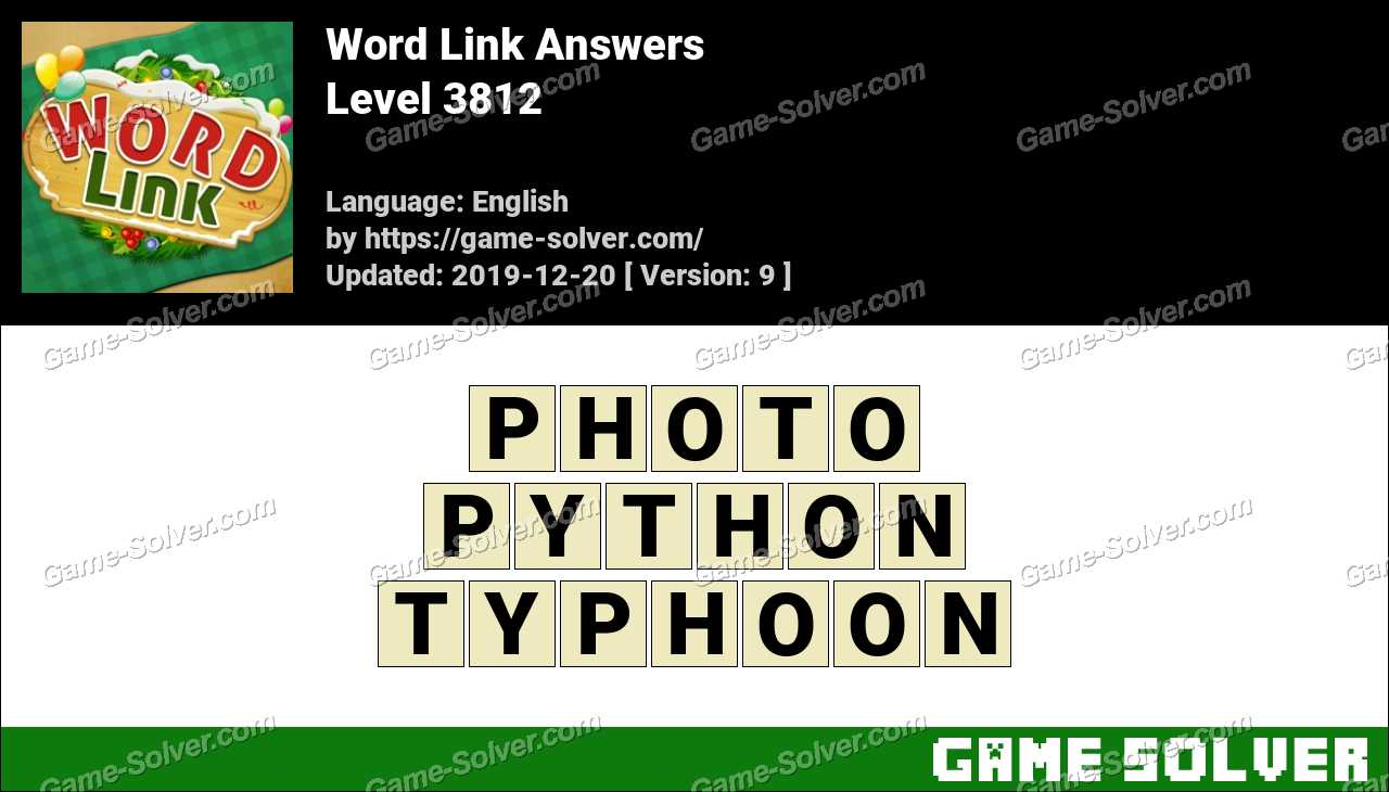 Word Link Level 3812 Answers