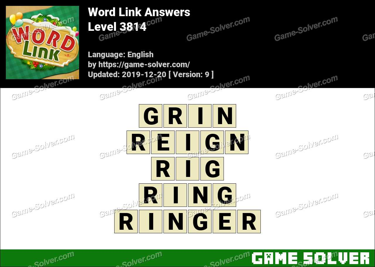 Word Link Level 3814 Answers