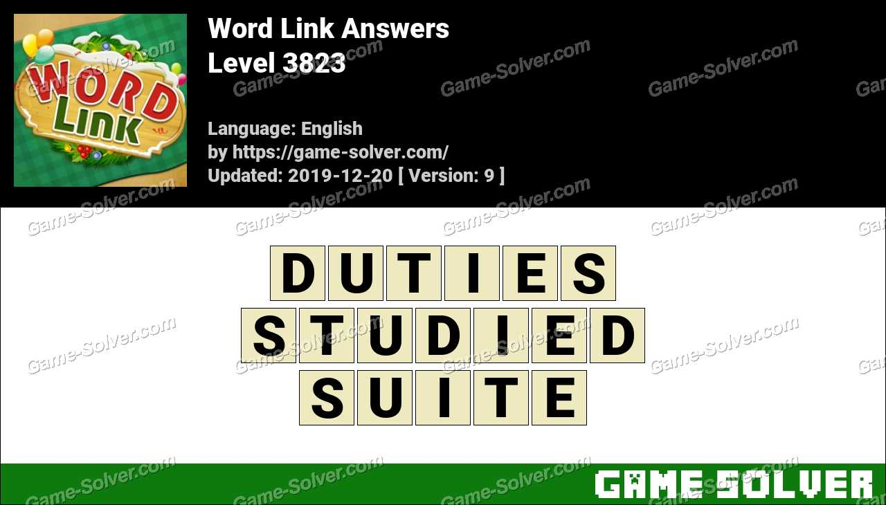 Word Link Level 3823 Answers