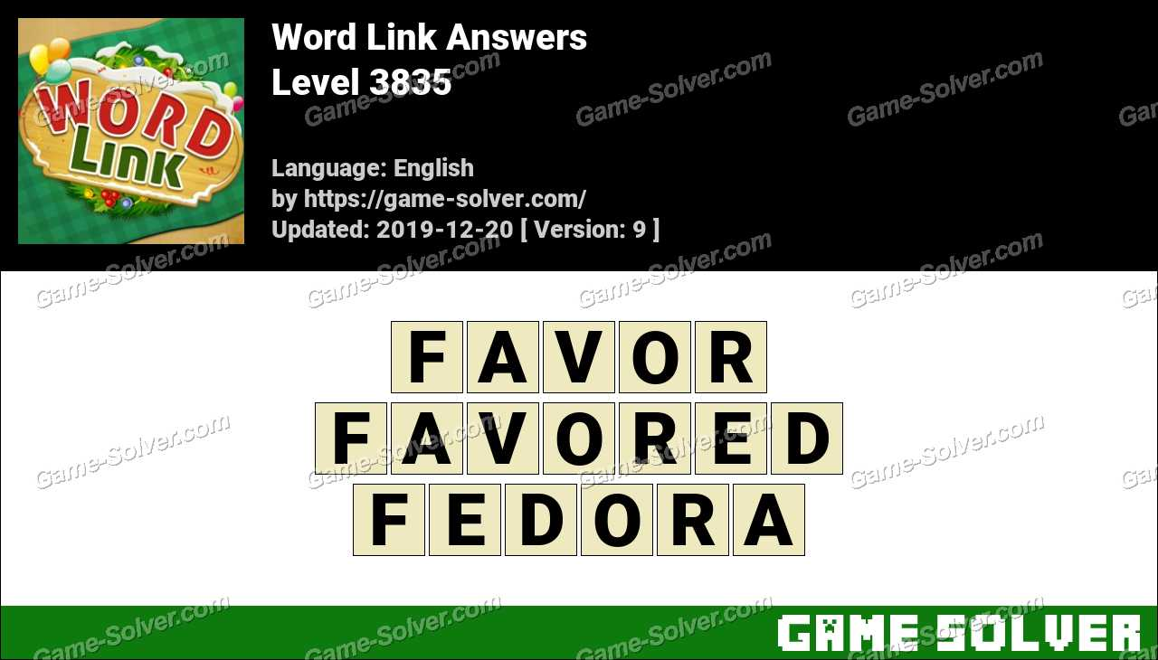 Word Link Level 3835 Answers