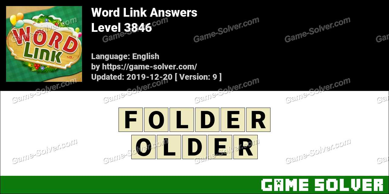 Word Link Level 3846 Answers