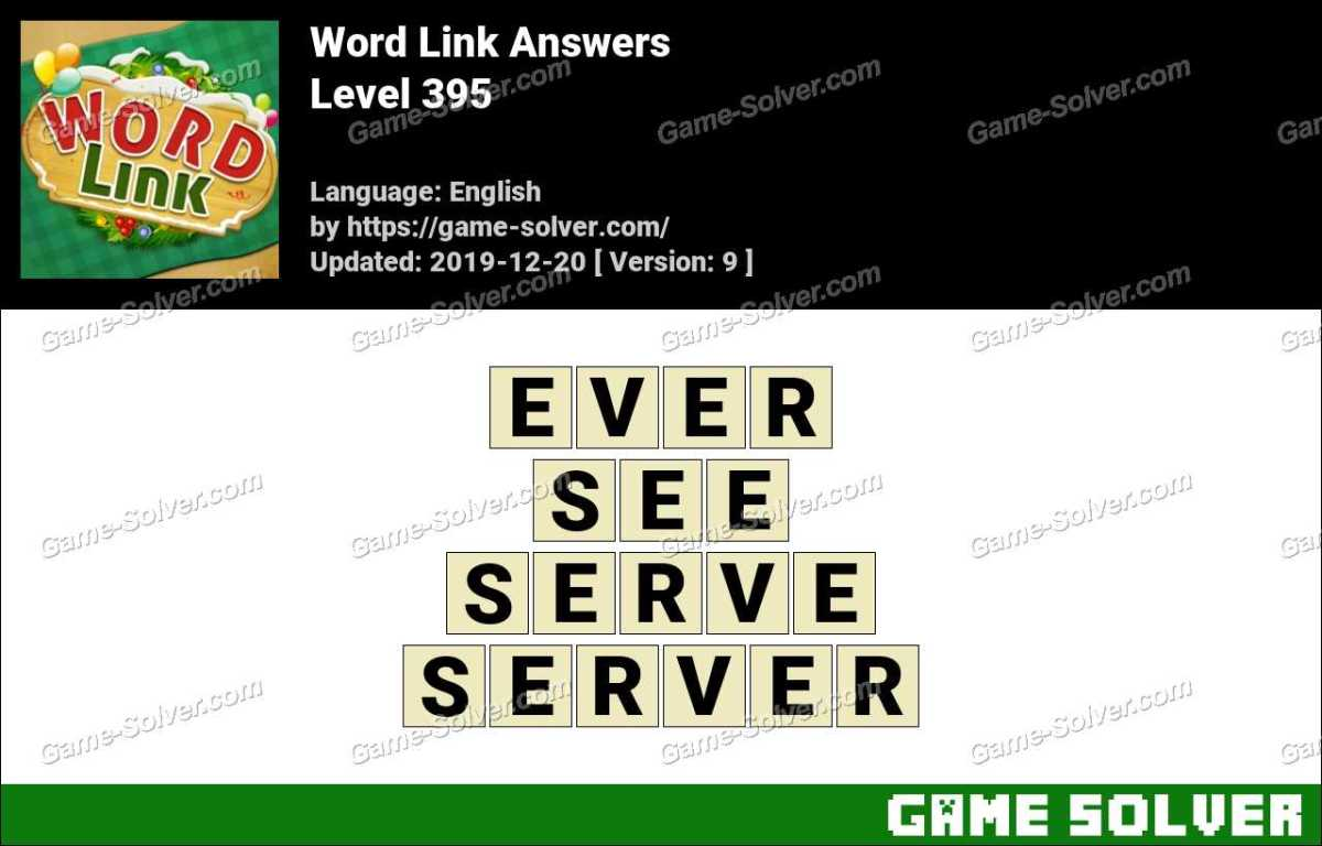 Word Link Level 395 Answers