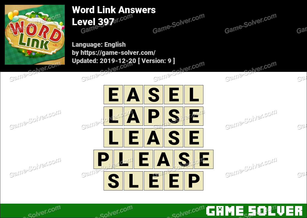 Word Link Level 397 Answers