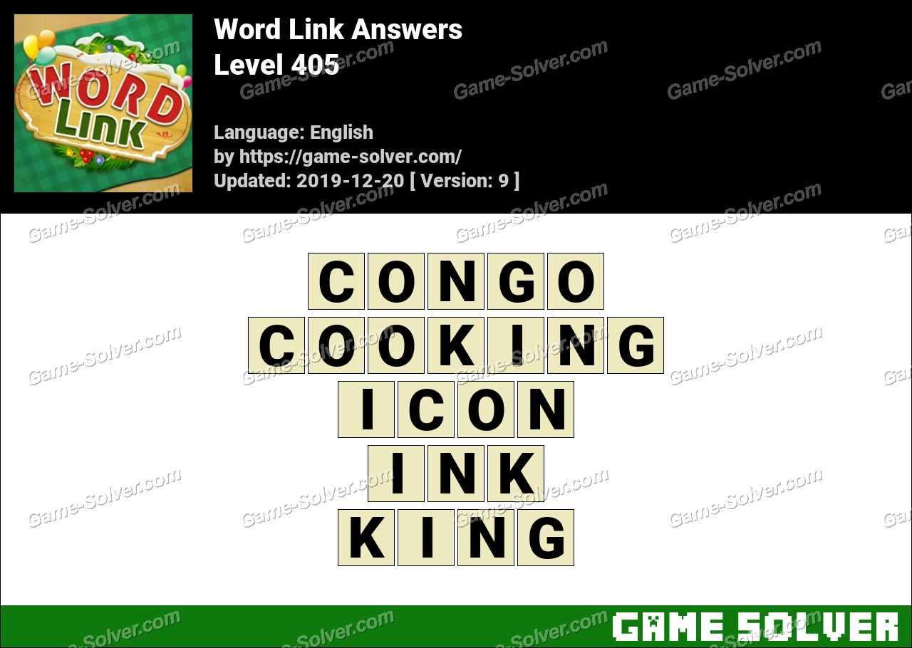 Word Link Level 405 Answers