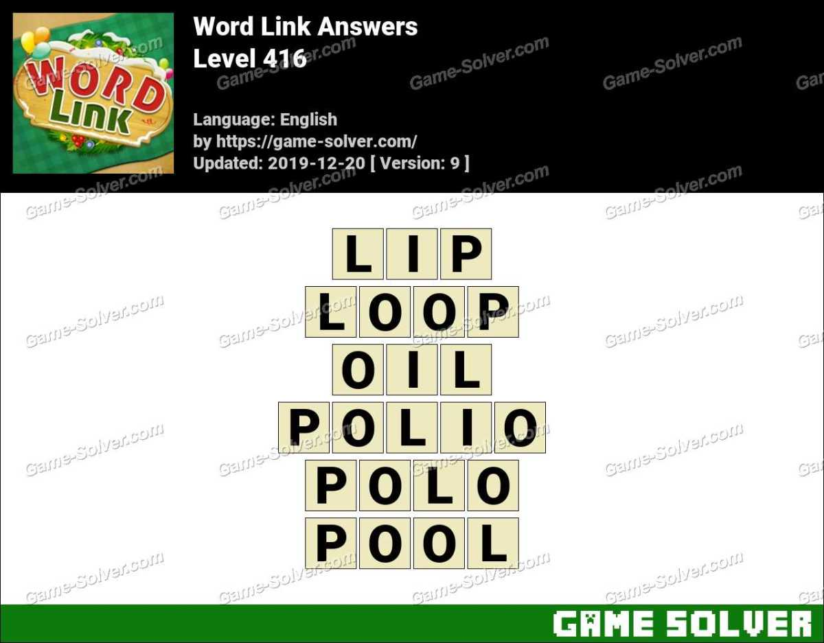Word Link Level 416 Answers