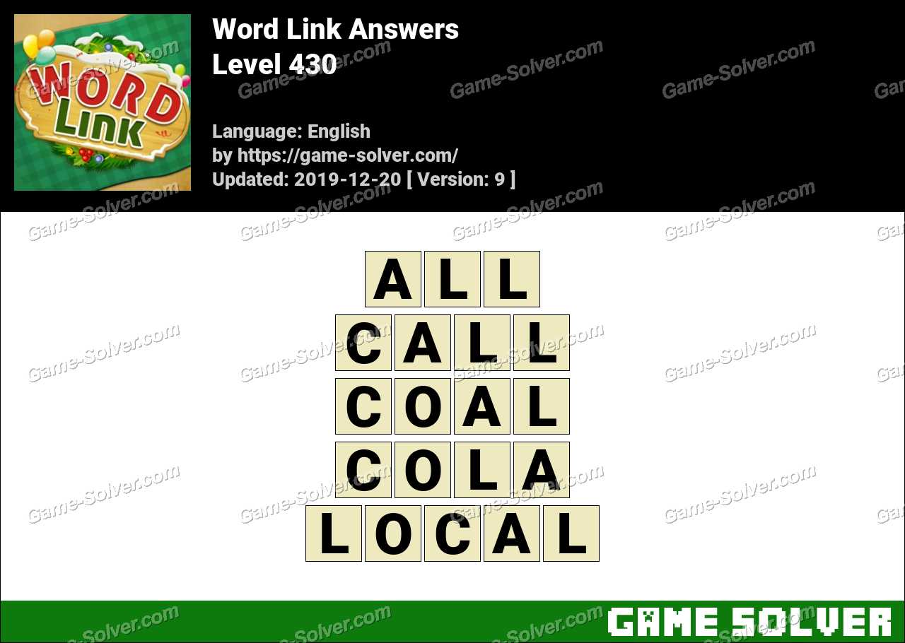 Word Link Level 430 Answers