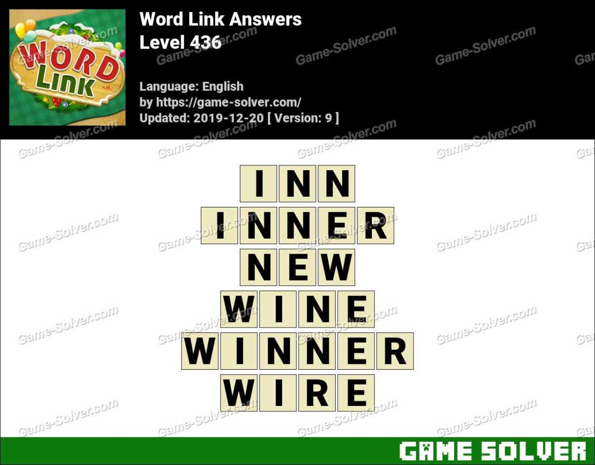 Word Link Level 436 Answers