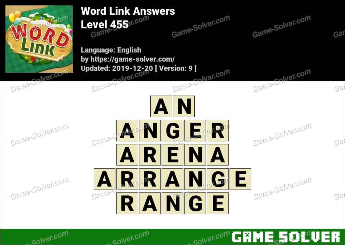 Word Link Level 455 Answers