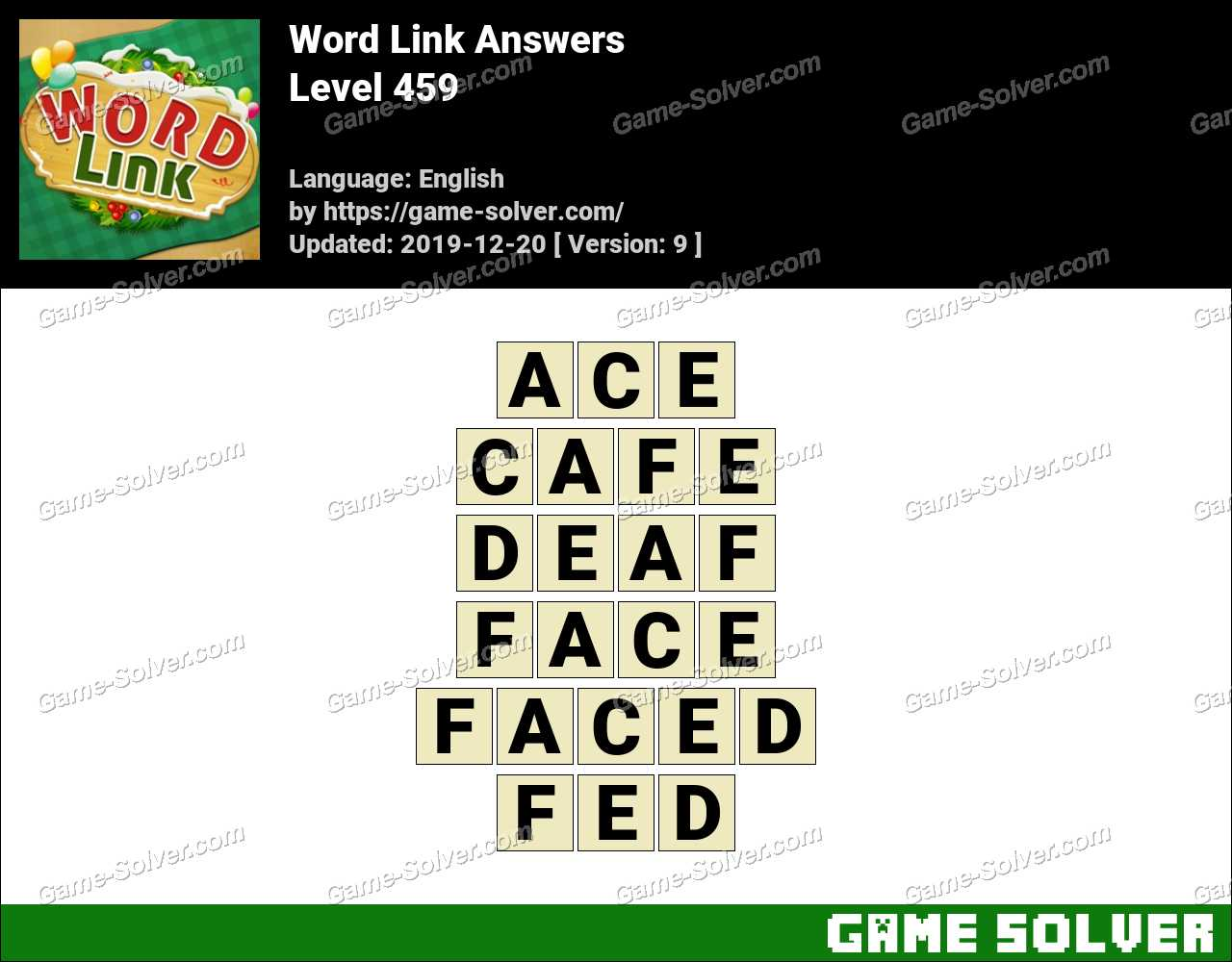 Word Link Level 459 Answers