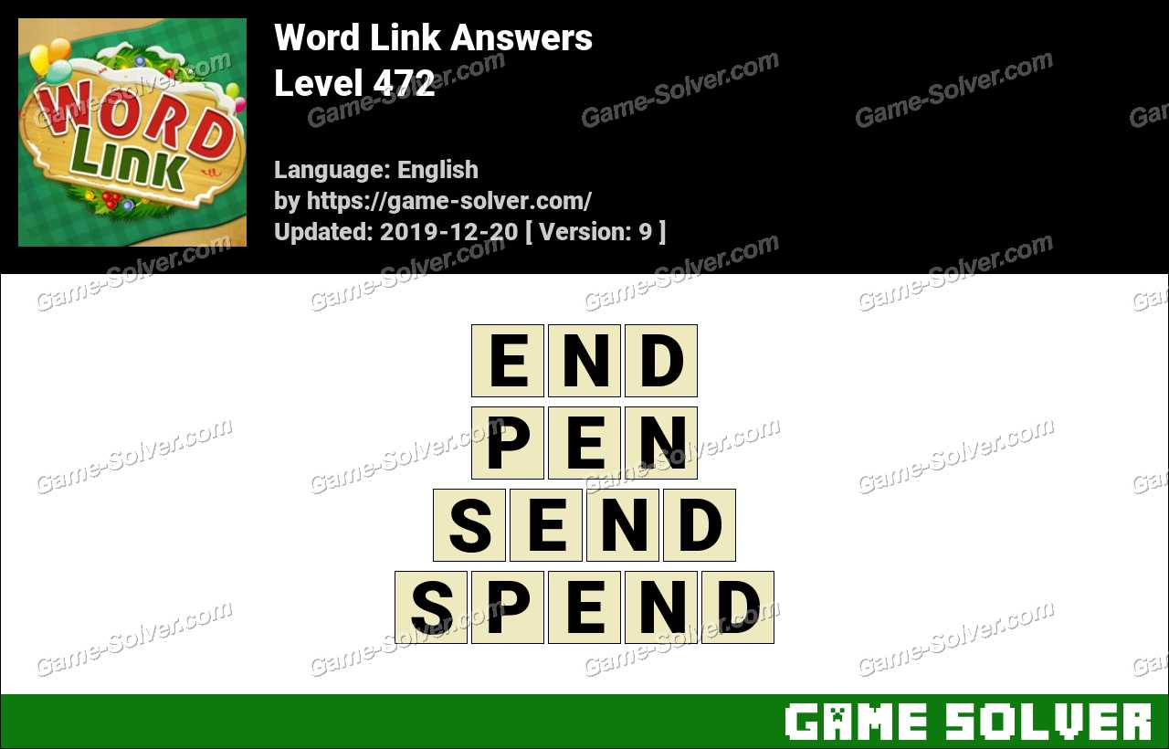 Word Link Level 472 Answers