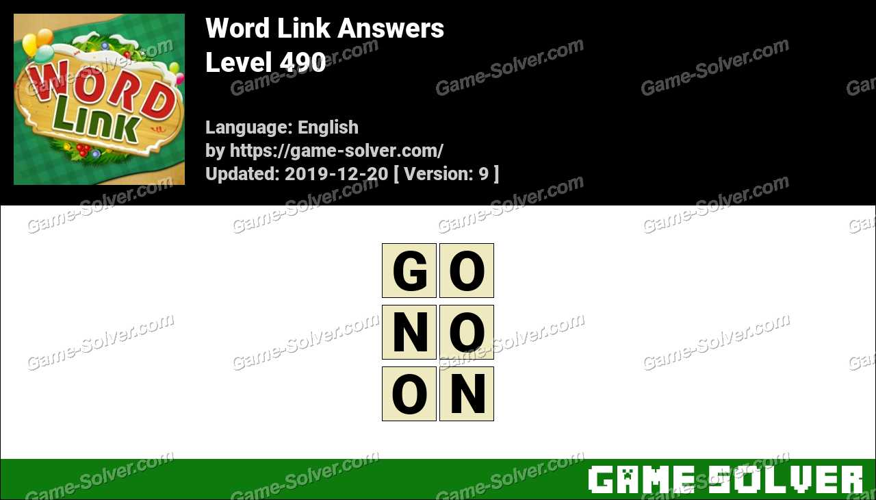 Word Link Level 490 Answers