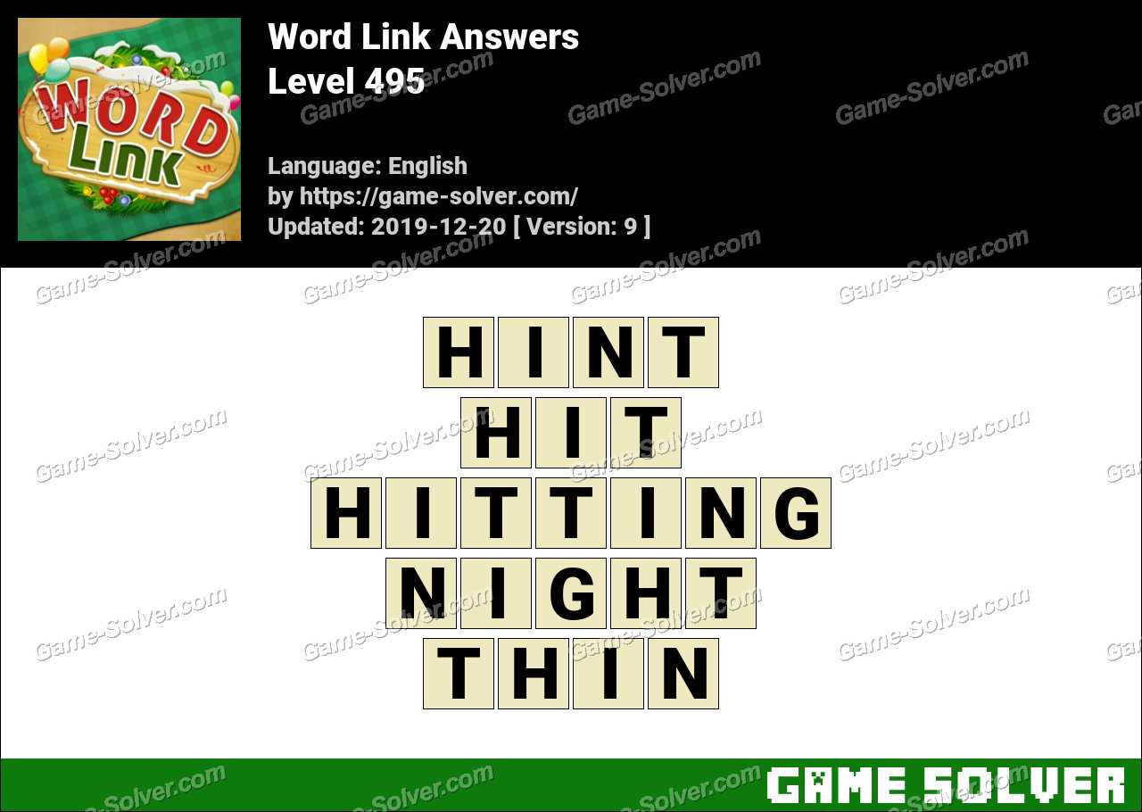 Word Link Level 495 Answers
