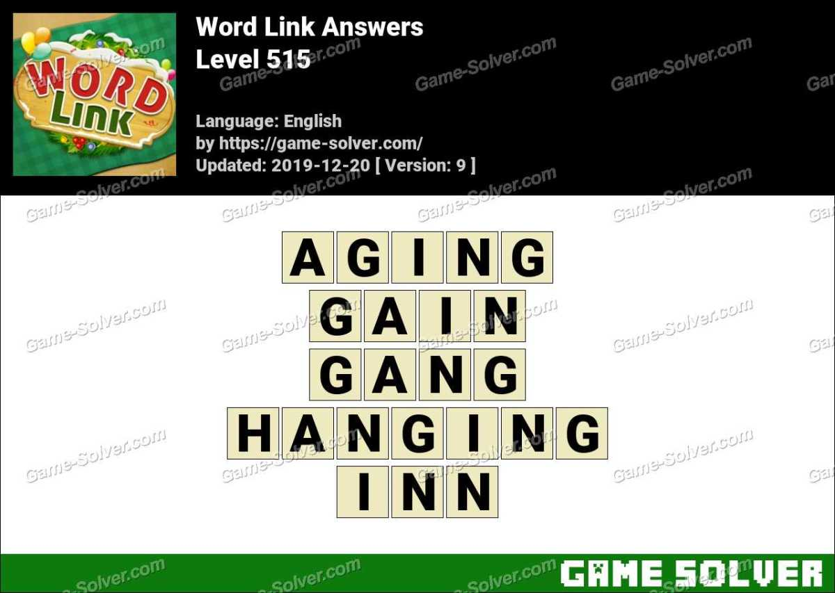 Word Link Level 515 Answers