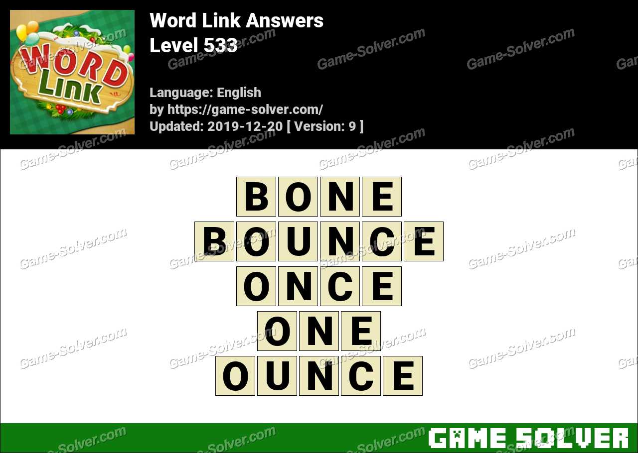Word Link Level 533 Answers