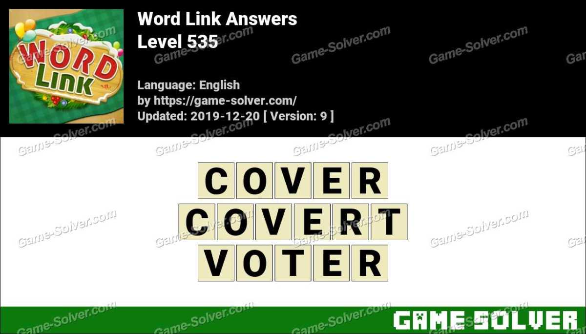 Word Link Level 535 Answers