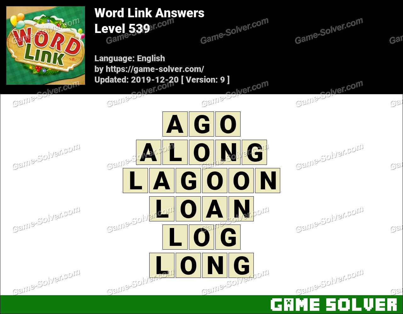 Word Link Level 539 Answers