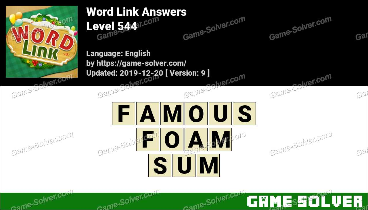 Word Link Level 544 Answers