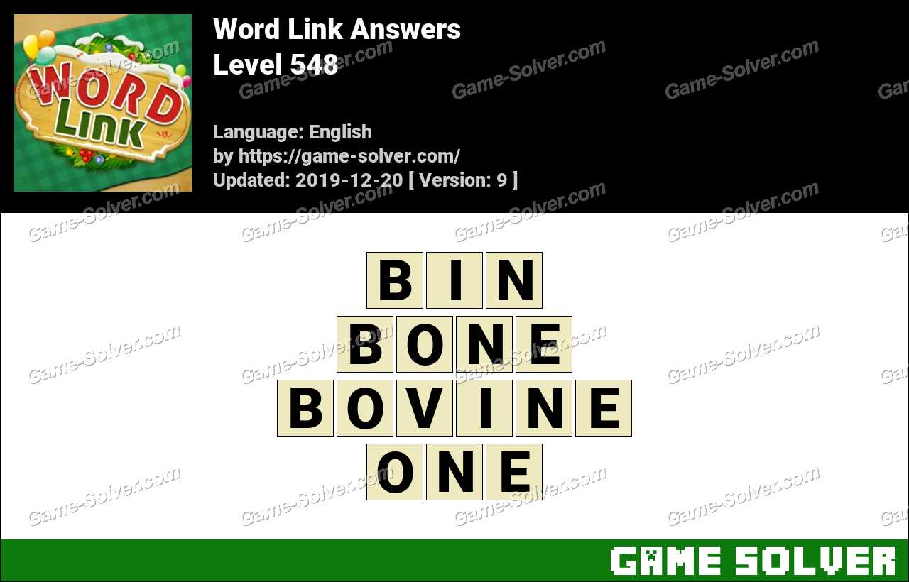 Word Link Level 548 Answers