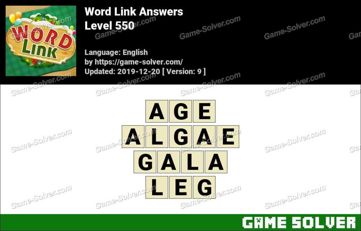 Word Link Level 550 Answers