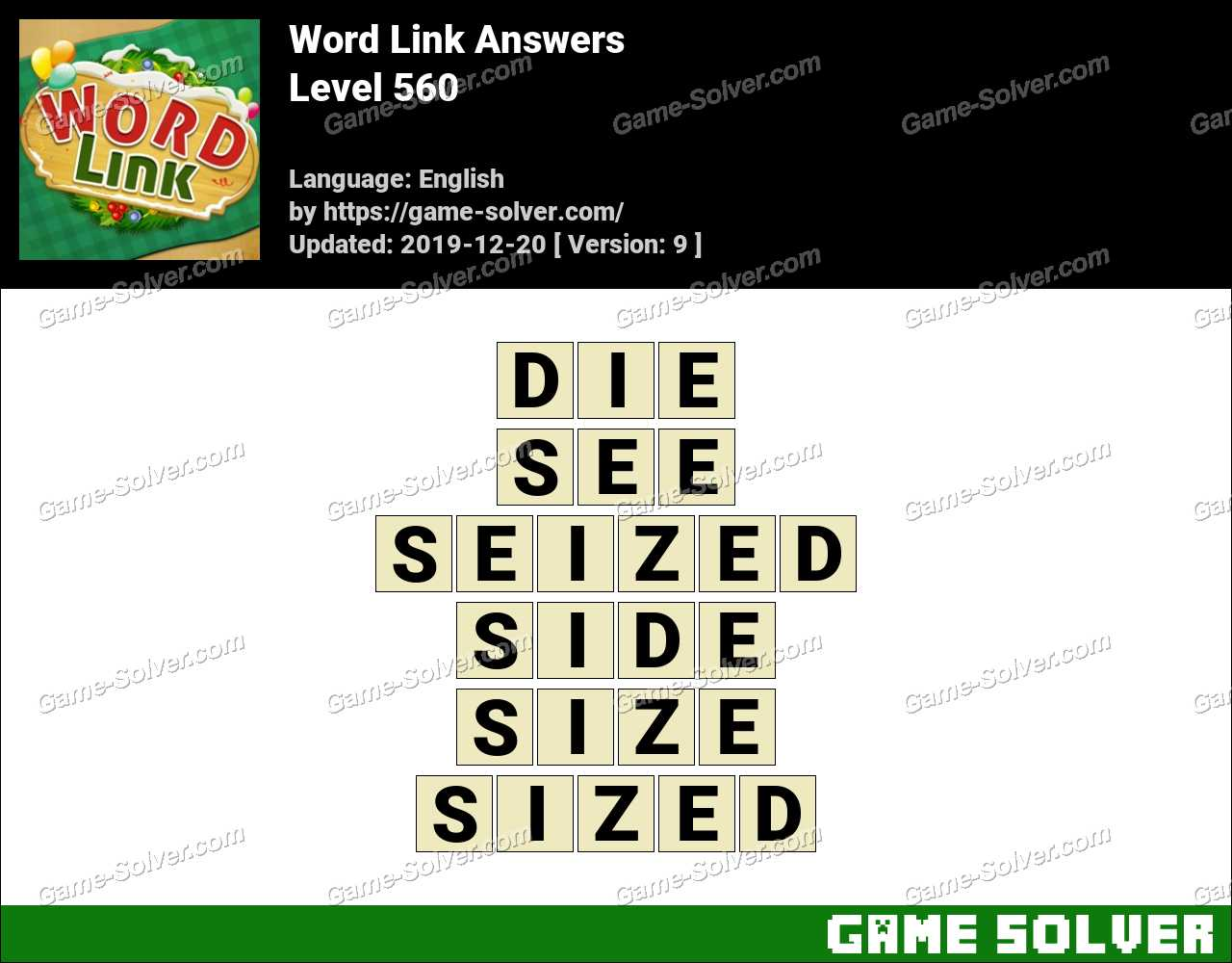 Word Link Level 560 Answers