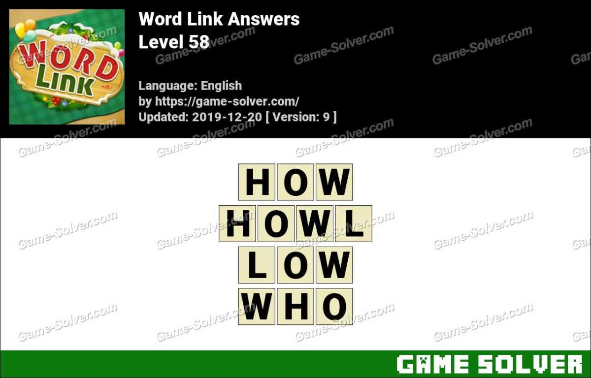 Word Link Level 58 Answers