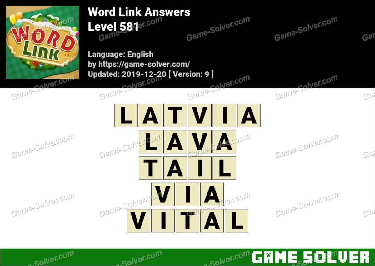 Word Link Level 581 Answers