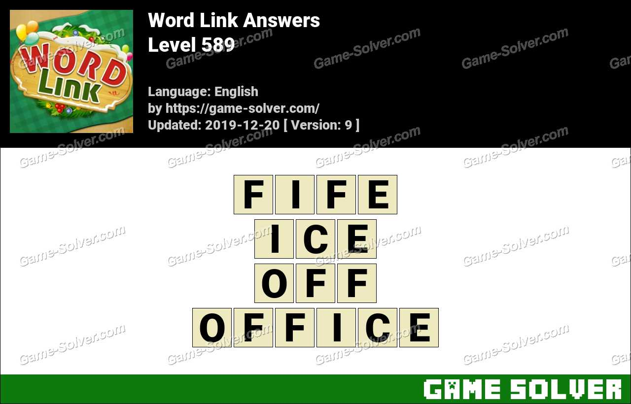 Word Link Level 589 Answers