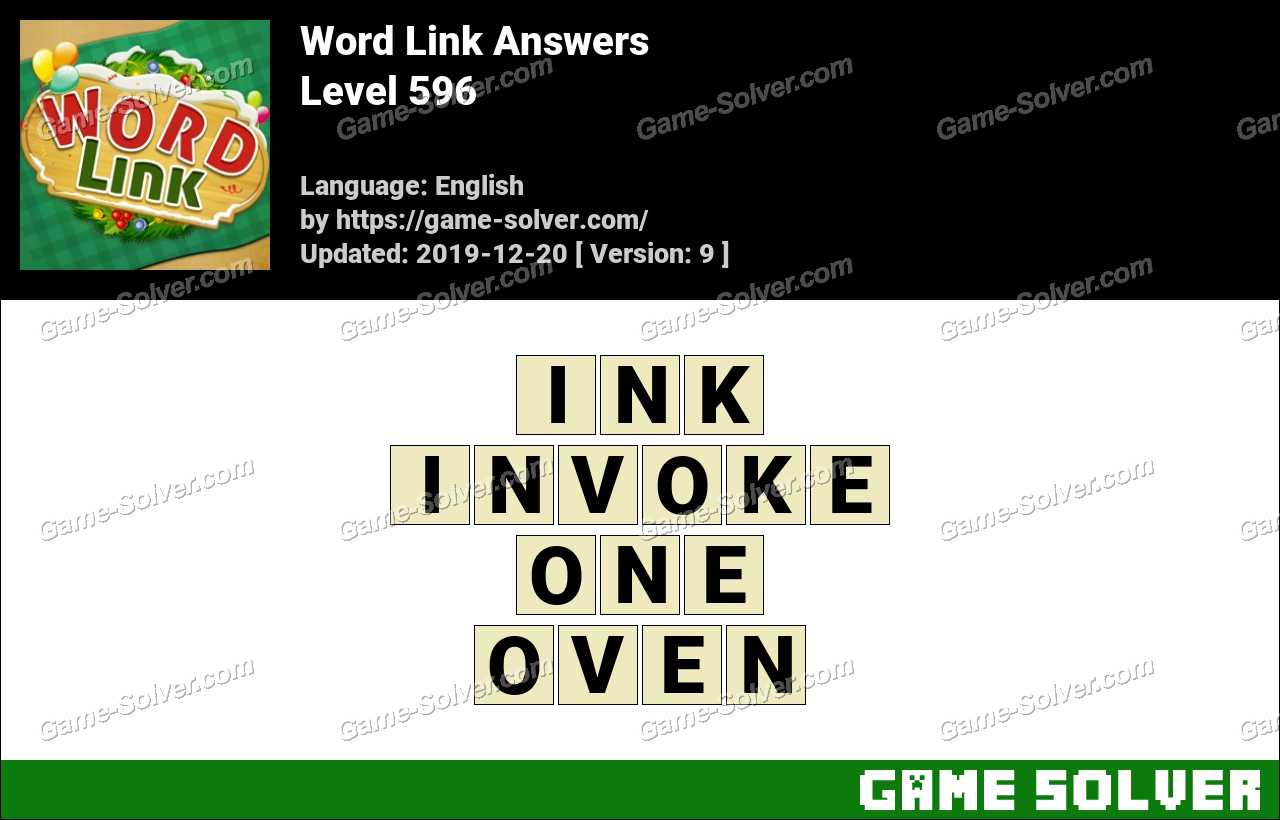 Word Link Level 596 Answers