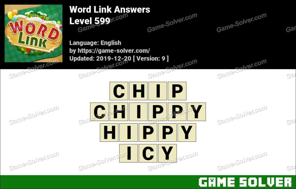 Word Link Level 599 Answers