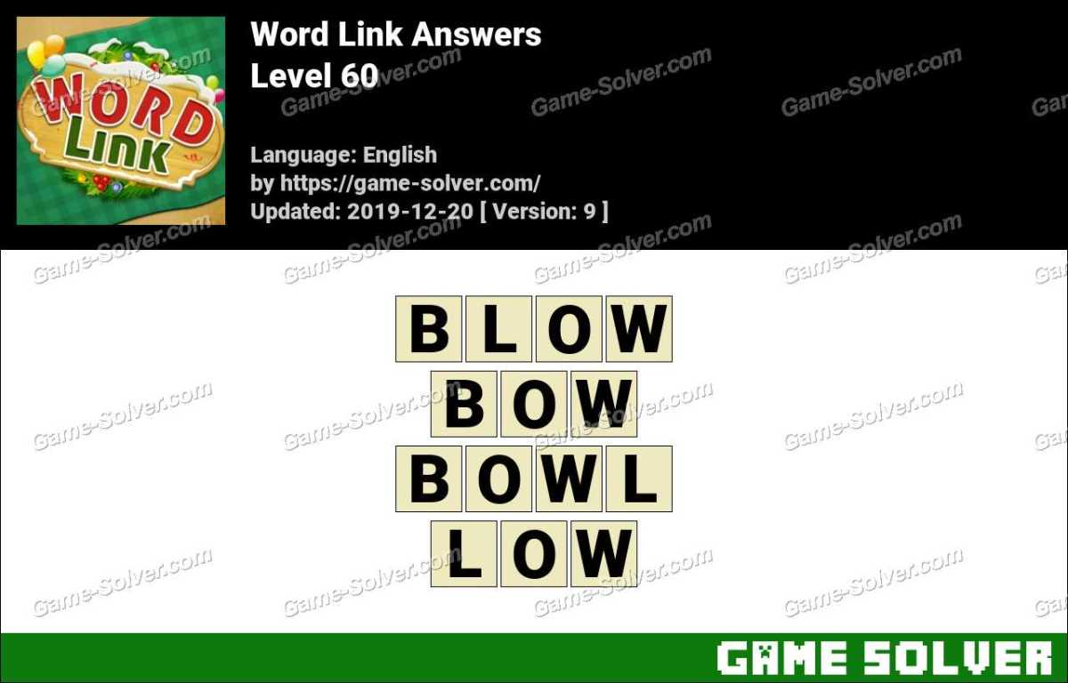 Word Link Level 60 Answers