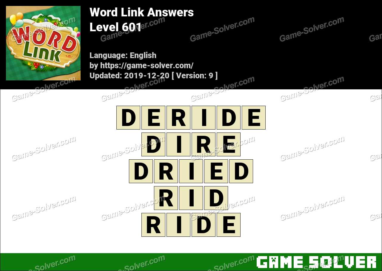 Word Link Level 601 Answers