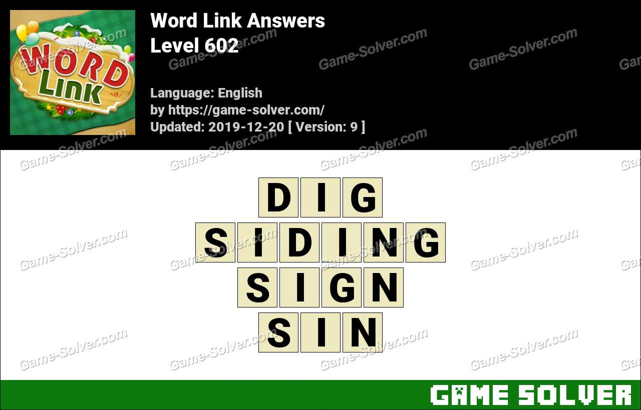 Word Link Level 602 Answers