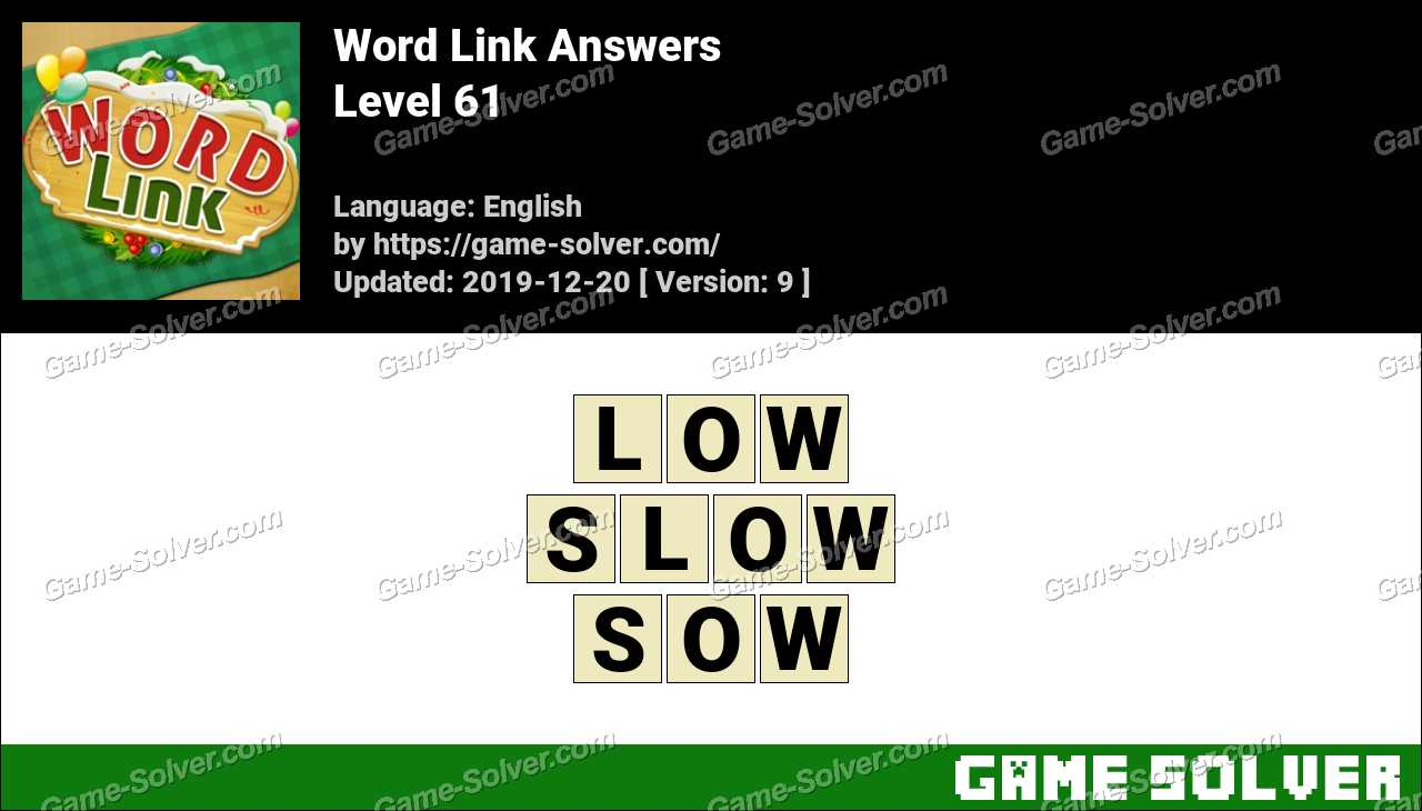Word Link Level 61 Answers